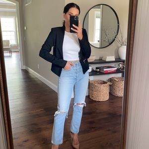 Vero Moda Black Ylva Zipper Pocket Blazer